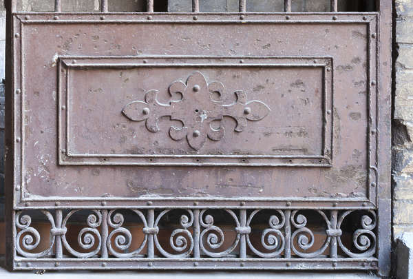 metal panel ornate ornament fence gate iron wrought