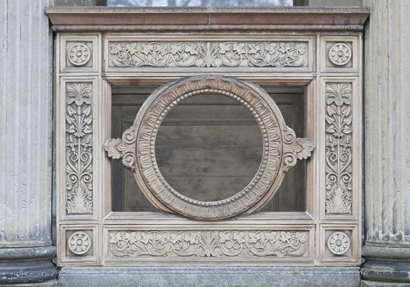 ornament round ornate panel