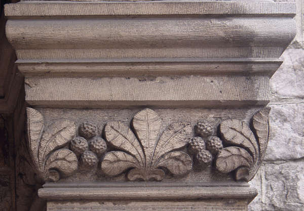 ornament leaves stone