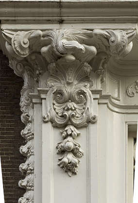 ornament pillar support eagle