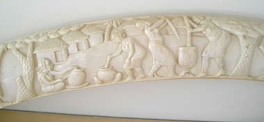 tusk ornament ivory carving