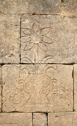 ornament flower stone blocks relief