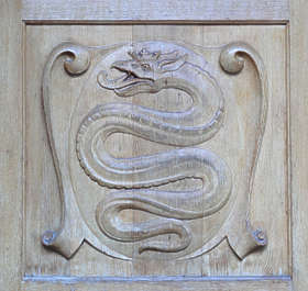 ornament wood snake serpent