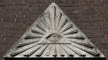sign pyramid eye ornament relief