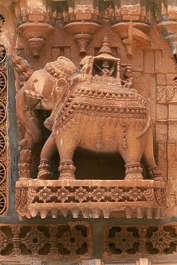 india ornament relief elephant stone carving