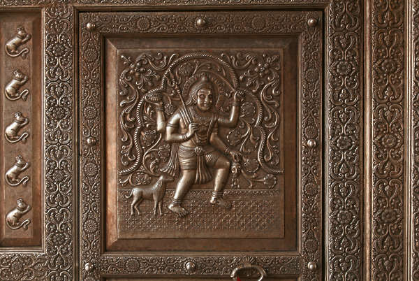 india ornament relief ornate panel metal copper border trim