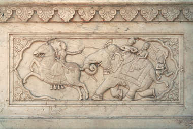 india ornament panel carving stone marble ornate relief
