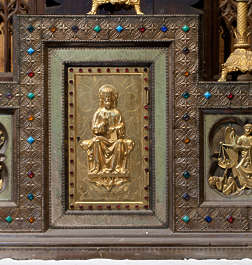 ornament panel wood gilded gold carving