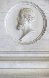 ornament relief marble head face