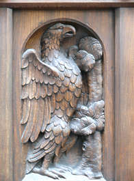 ornament panel relief eagle carving