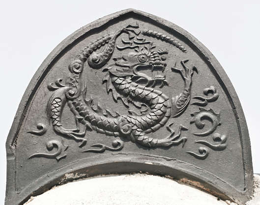 south korea ornate ornament relief