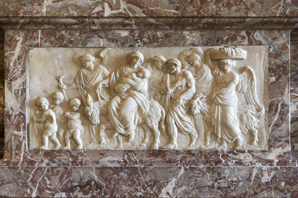 marble ornament relief