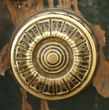 ornament doorknob gold metal circle