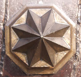 ornament doorknob star metal