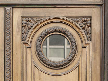 ornate circle wooden wood door ornament