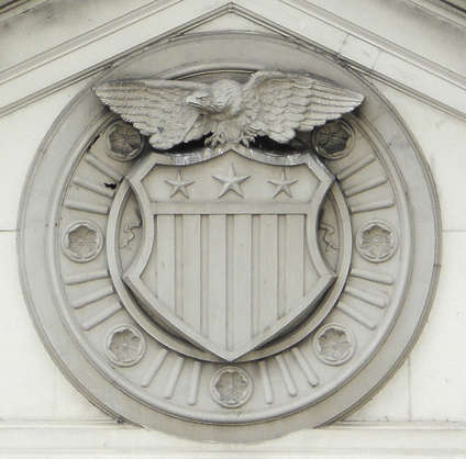 ornament eagle shield american emblem