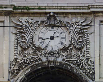 ornament clock leaves stone flower arch