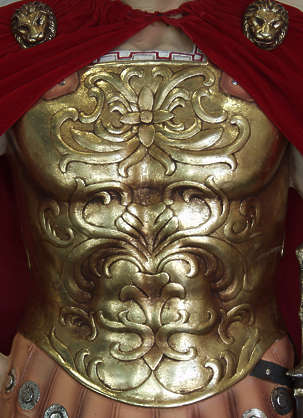 ornament gold breastplate curl armor gilded