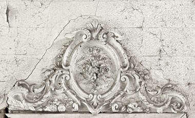 ornament plaster shield curl curls