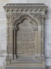 UK church cathedral tombstone