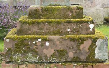 tombstone gravestone tomb grave old UK mossy pedestal base headstone