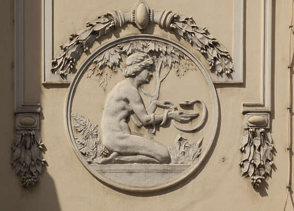ornament ornate round relief