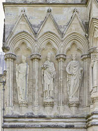 UK church cathedral ornament ornate figures sculptures