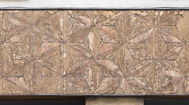 wood tiles old facade wall worn