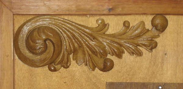 ornament wood curl