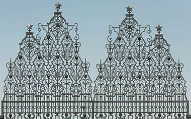 india fence ornament ornate iron wrought