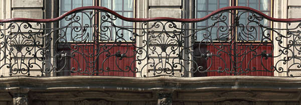 ornament balcony wrought iron