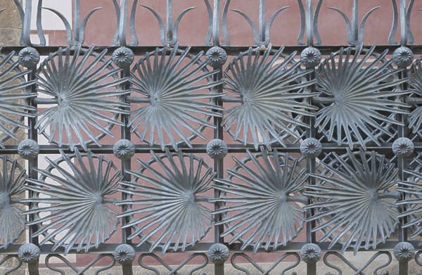 fence ornament ornate iron wrought