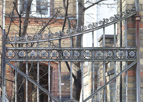 fence iron wrought ornate ornament