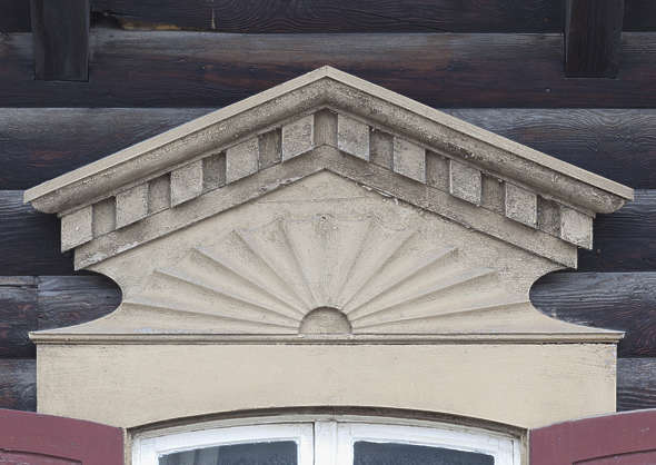 ornament wooden pediment