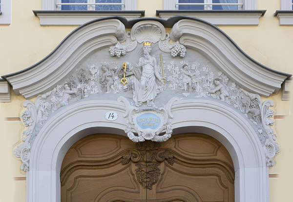 ornate pediment germany