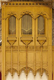 ornate ornament france wooden church organ