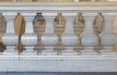 railing border balcony ornate marble