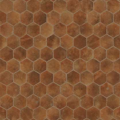 Hexagonal Terracotta Floor Tiles Pbr00191