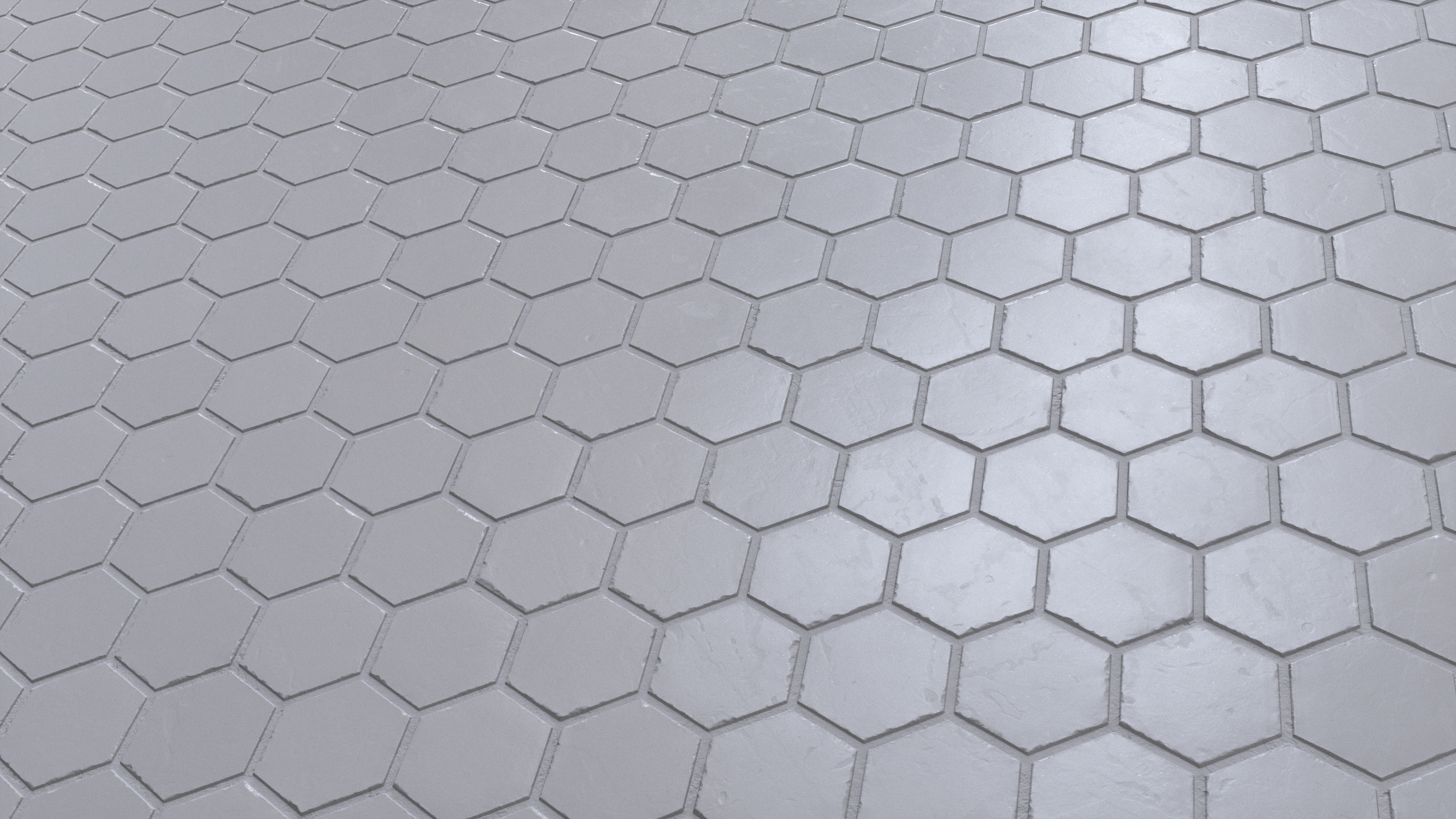 Marble Hexagon Tile Floor Pbr0008