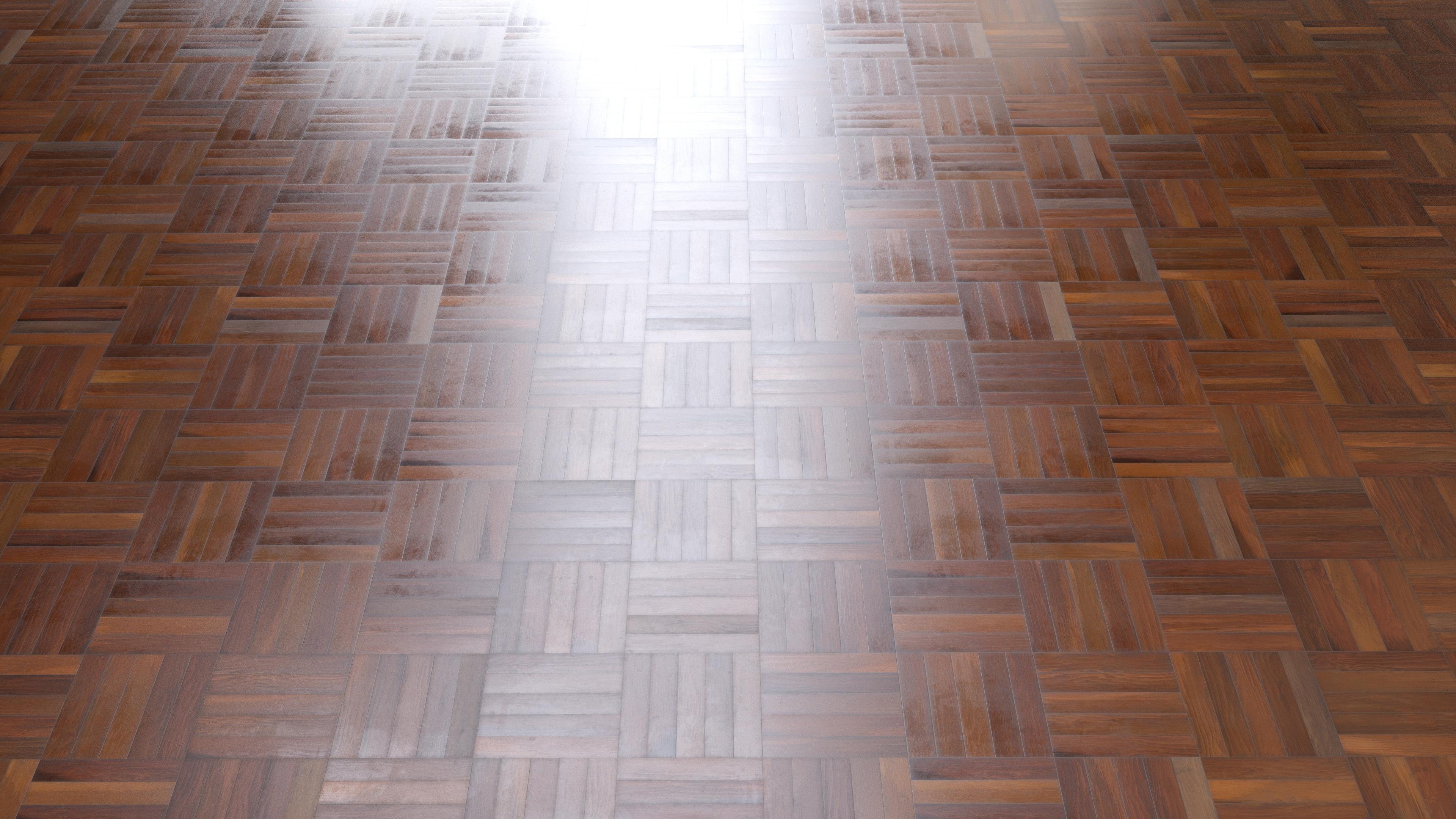 Free Material - Five Finger Parquet Hardwood Floor - PBR0032
