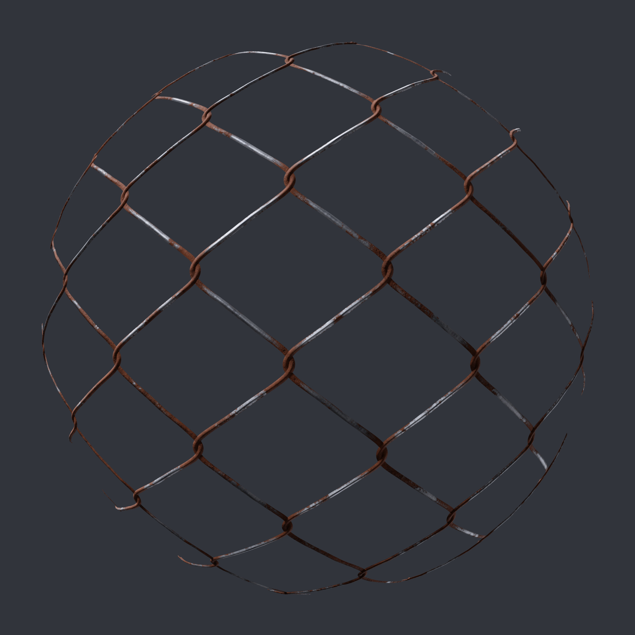 Metal Wire Mesh Fence - PBR0174