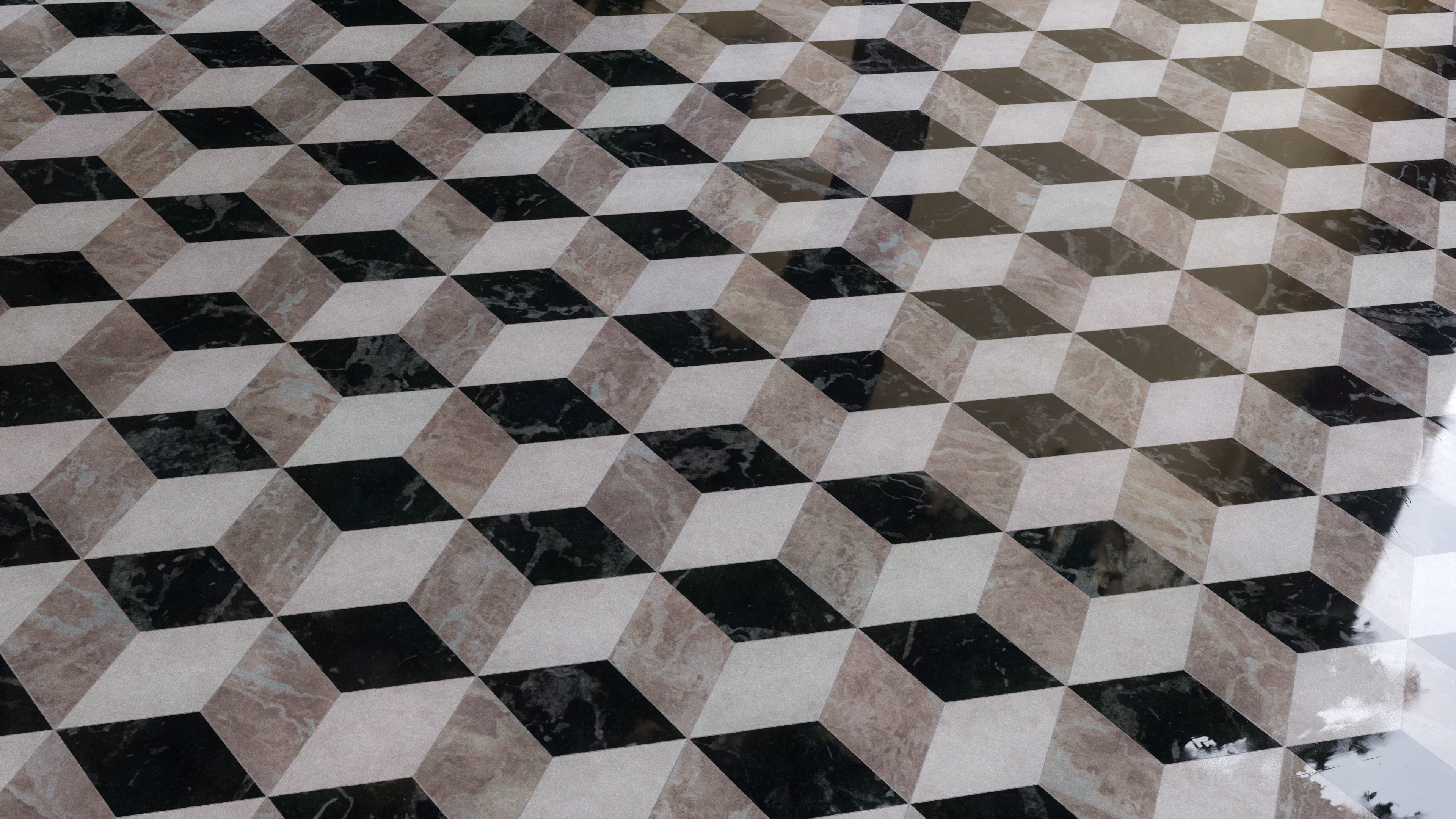 Geometric Marble Floor Tiles Pbr00197