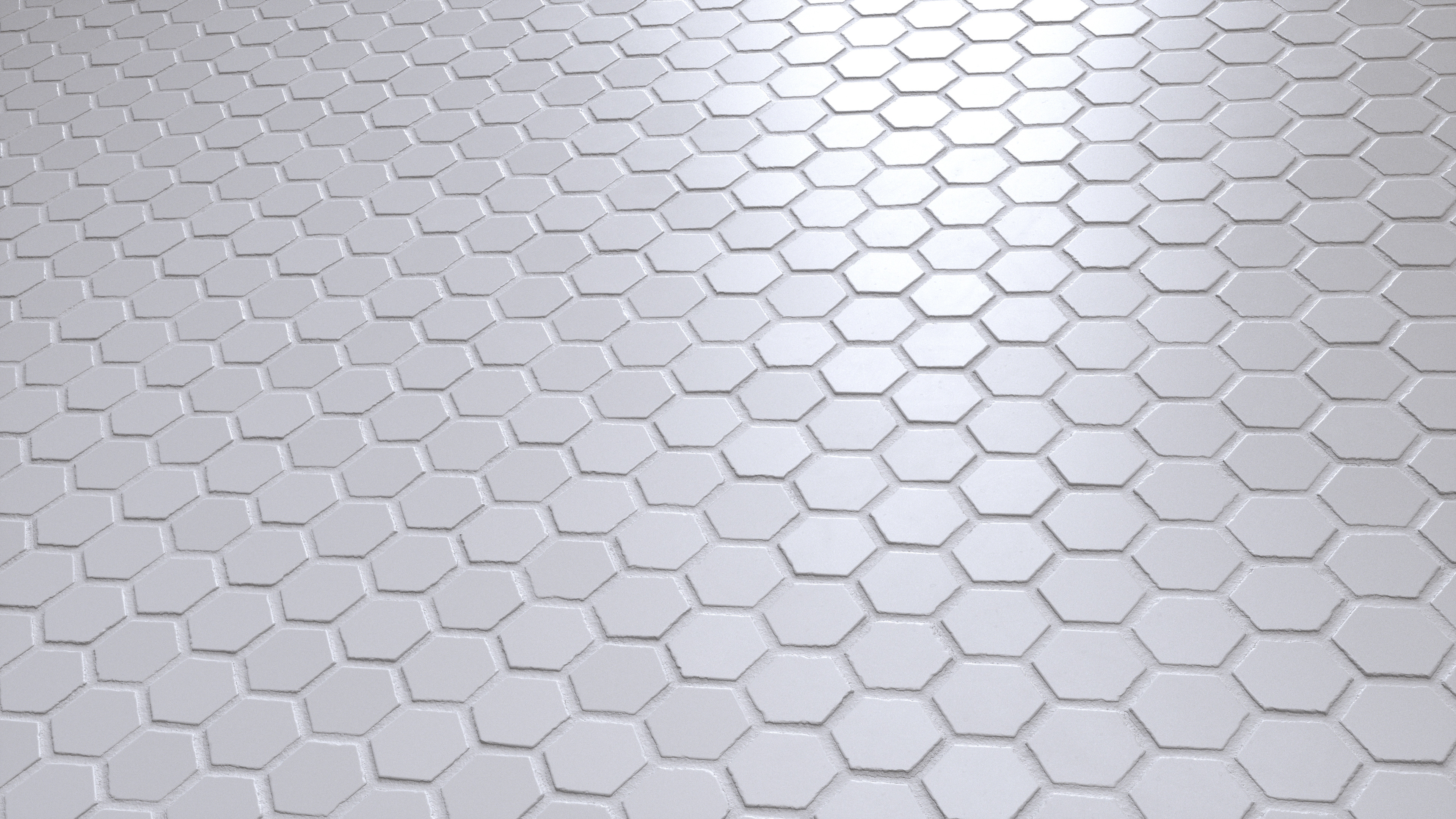 Small Hexagonal Marble Mosaic Tiles Pbr00200