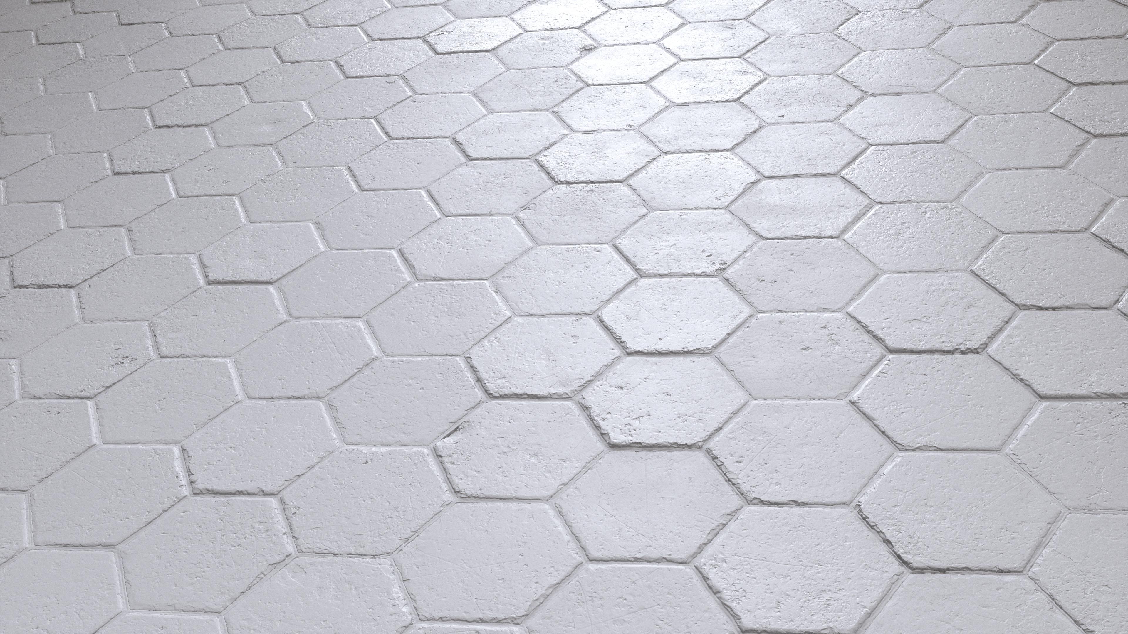 Hexagonal Terracotta Floor Tiles Pbr00191