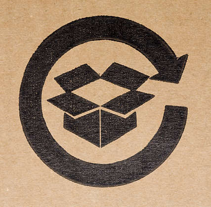 cardboard box symbols recycling