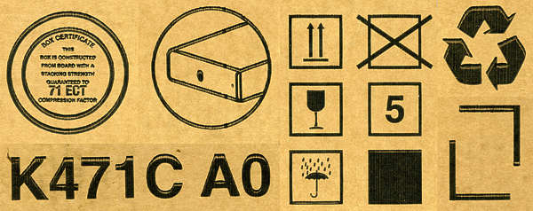 cardboard box symbols markings