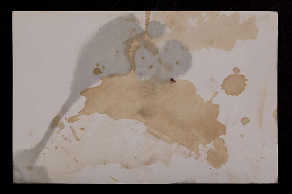 paper photo stained