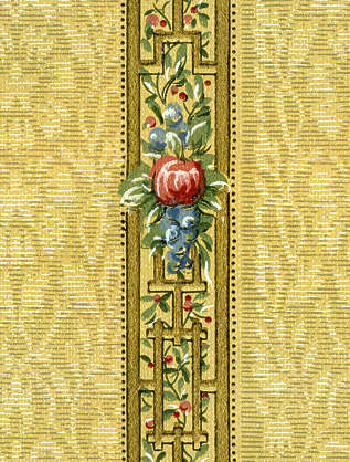 wallpaper wall paper 40s fourties old border ornament