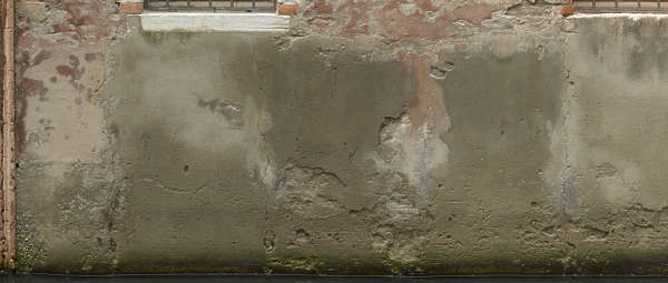 plaster bare old water venice italy