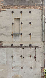 plaster bare damaged facade